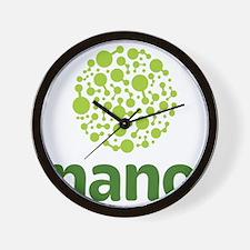 light green molecule stacked on dark gr Wall Clock