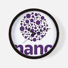 purple nano Wall Clock
