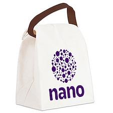 purple nano Canvas Lunch Bag
