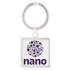 purple nano Square Keychain
