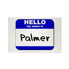 hello my name is palmer Rectangle Magnet