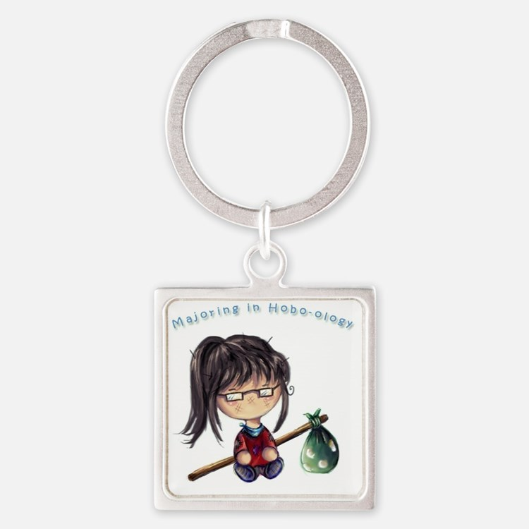 Majored in Hobo-Ology Square Keychain