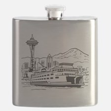 Space Needle and Ferry Flask