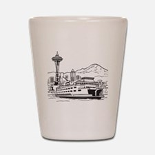 Space Needle and Ferry Shot Glass