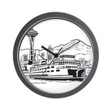 Space Needle and Ferry Wall Clock