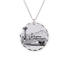 Space Needle and Ferry Necklace