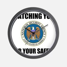 Watching You For Your Safety Wall Clock