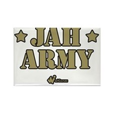 Jah Army Rectangle Magnet