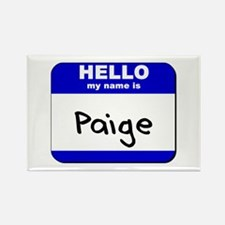 hello my name is paige Rectangle Magnet