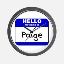 hello my name is paige  Wall Clock