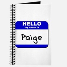 hello my name is paige Journal