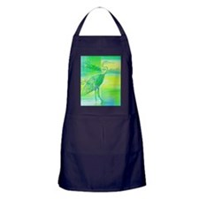 Great Blue Heron Abstract  Apron (dark)