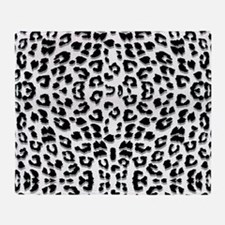 Snow Leopard Print Throw Blanket