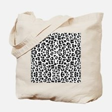 Snow Leopard Print Tote Bag