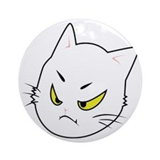 Kitty Cats Bad Moods Round Ornament