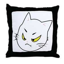Kitty Cats Bad Moods Throw Pillow