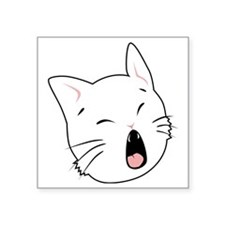 """Kitty Cats Bad Moods Square Sticker 3"""" x 3"""""""
