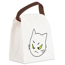 Kitty Cats Bad Moods Canvas Lunch Bag