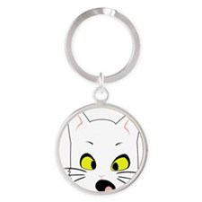 Kitty Cats Bad Moods Round Keychain