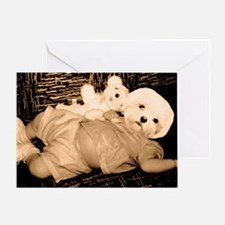 dog headed baby Greeting Card