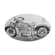 Ride with faith Oval Car Magnet