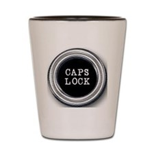 Silver Caps Lock Key Shot Glass