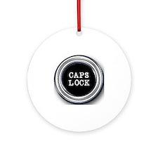 Silver Caps Lock Key Round Ornament
