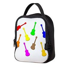 rainbow ukulele Neoprene Lunch Bag