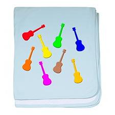 rainbow ukulele baby blanket