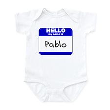 hello my name is pablo  Infant Bodysuit