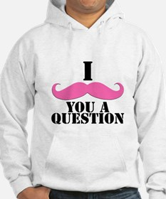 I Mustache You A Questions | Pink Mustache Hoodie