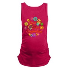 Peace Love Scrapbooking Maternity Tank Top