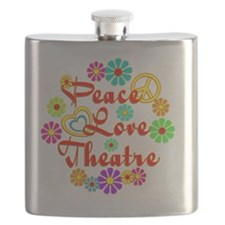 Peace Love Theatre Flask