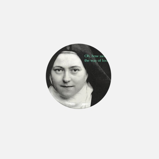 Words from Sainte Thérèse de Lisieux Mini Button