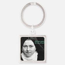 Saint Theresa of Lisieux The Way o Square Keychain