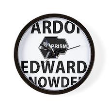 Pardon Edward Snowden Wall Clock