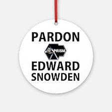 Pardon Edward Snowden Round Ornament