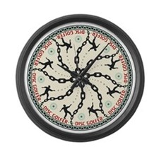 Disc Golfer Large Wall Clock