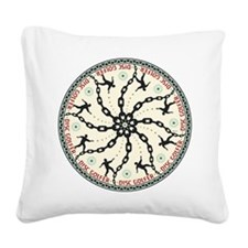 Disc Golfer Square Canvas Pillow
