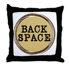 Back Space Key Throw Pillow