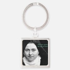 Saint Theresa of the Little Flower Square Keychain