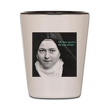 Saint Theresa of the Little Flower Shot Glass