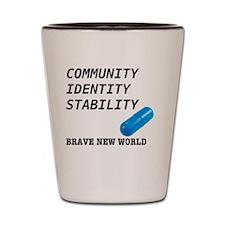 Community, Identity, Stability Shot Glass
