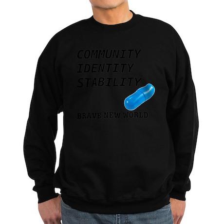 Community, Identity, Stability Sweatshirt (dark)