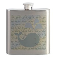 Cute Whale With Pattern Flask