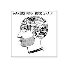 """PRJB Phrenology Head Square Sticker 3"""" x 3"""""""