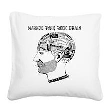 PRJB Phrenology Head Square Canvas Pillow