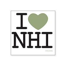 "i heart NHI Square Sticker 3"" x 3"""