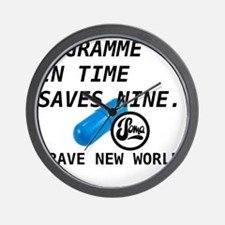 Brave New World - Gramme in Time Wall Clock