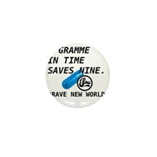 Brave New World - Gramme in Time Mini Button